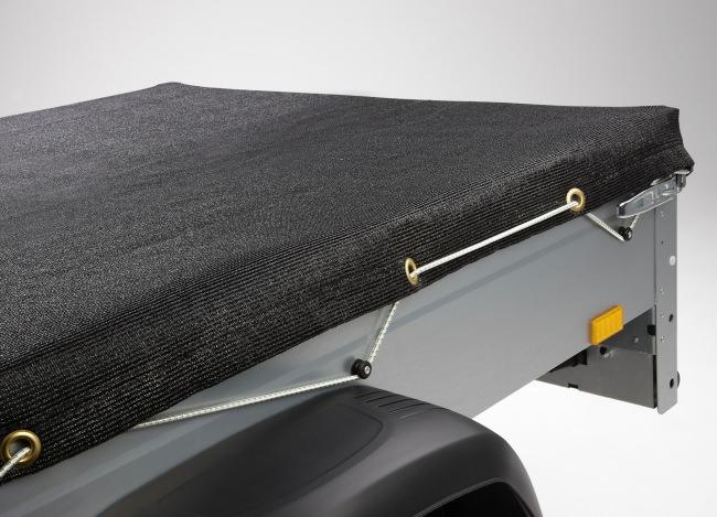 Pritschenplane 1,50 x 2,20 m - schwarz | Schutznetze24