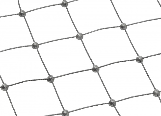 Stainless Steel Netting with 50 mm Mesh Size