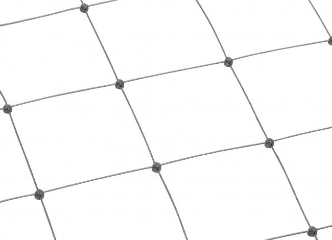 Schutznetz aus Edelstahl per m² mit 125 mm Maschenweite