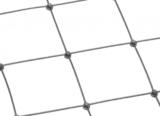 Schutznetz aus Edelstahl per m² mit 4,0 mm Materialstärke