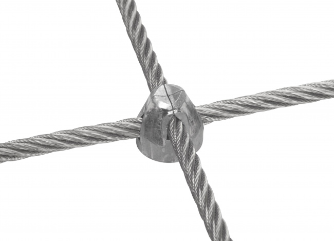 Steel Wire Rope Net Made to Measure (8.0 mm/100 mm)