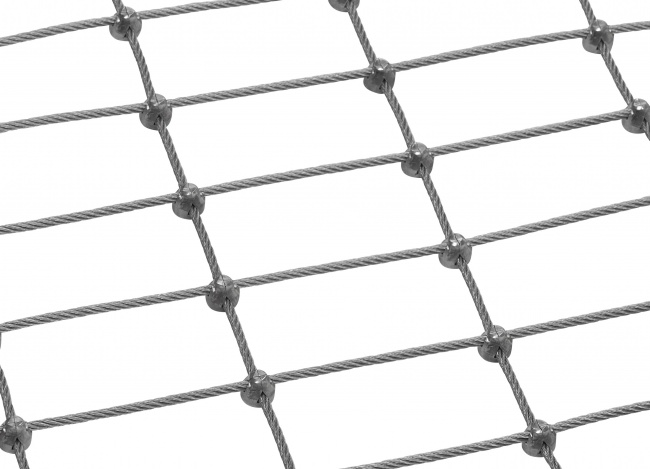 Tailor-made Wire Mesh Netting with 4.0 mm Rope Diameter