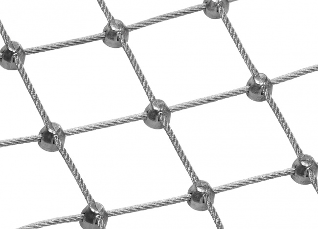 Steel Wire Rope Mesh by the m² with 4.0 mm Rope Diameter