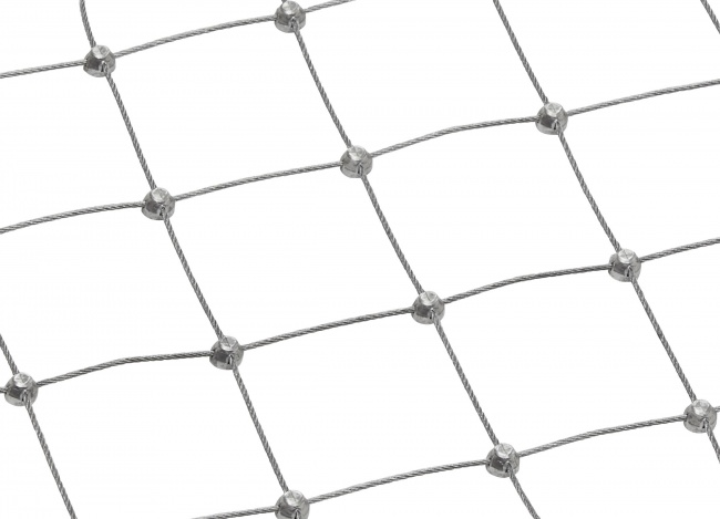 Steel Wire Rope Net with 50 mm Mesh Size | safetynet365.com