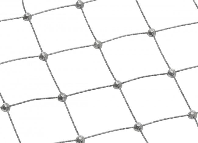 Stahldrahtnetz nach Maß mit 50 mm Maschenweite