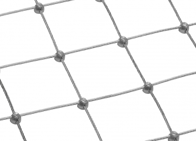 Steel Wire Rope Net by the m² (6.0 mm/150 mm)