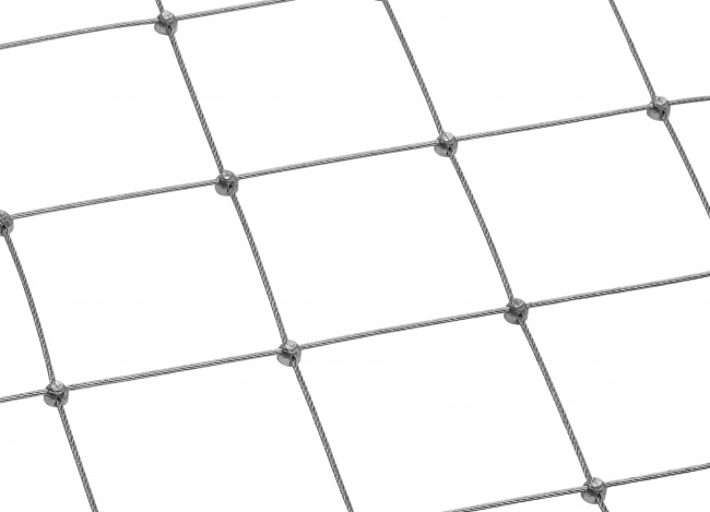 Steel Wire Rope Net with 2.5 mm Rope Diameter