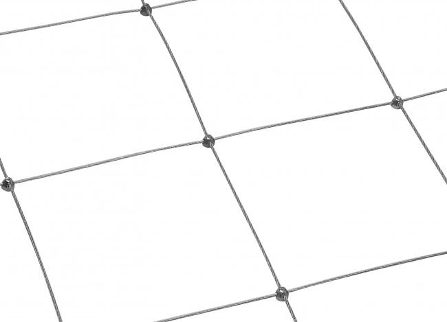 Stahldrahtseilnetz per m² mit 250 mm Maschenweite