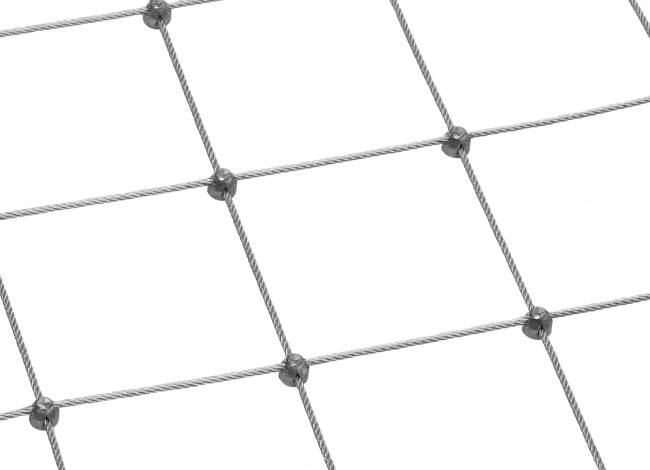 Steel Rope Mesh by the m² (6.0 mm/200 mm) | safetynet365.com