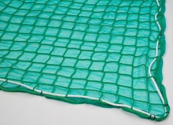 Fall Safety Net with Air-Permeable Tarpaulin 8.00 x 10.00 m