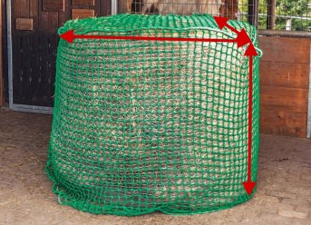 Custom-Made Hay Net for Round Bales