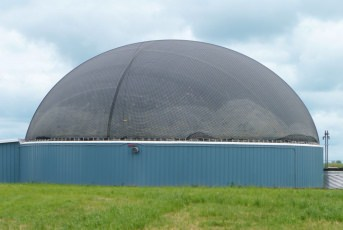 Schutznetz für Biogasanlagen nach Maß