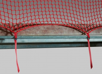 Guardrail Net 2.00 x 10.00 m with Quick-Release Straps