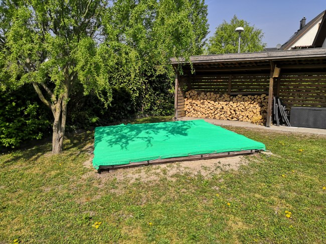 Abdeckplane Plane Holz 90 g//m² grau 2x3 m Schutz Folie Gewebe Sand PE Garten Bau