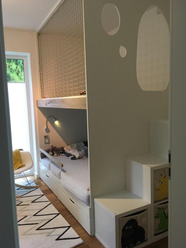 hochbett schutznetz per m nach ma schutznetze24. Black Bedroom Furniture Sets. Home Design Ideas